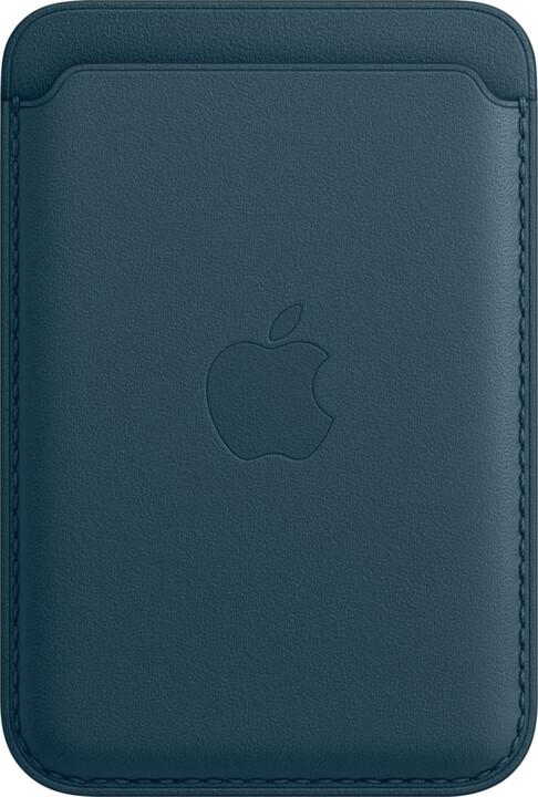 Apple kožená peněženka s MagSafe pro iPhone, modrá
