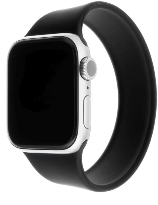 FIXED silikonový řemínek pro Apple Watch, 38/40mm, elastický, velikost S, černá