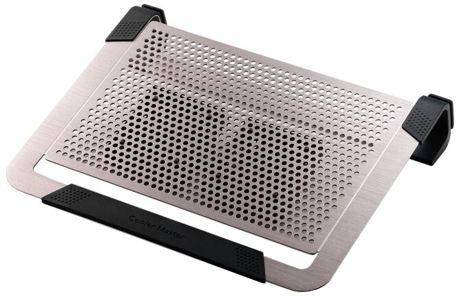 "CoolerMaster NotePal U2 PLUS pro NTB 12-17"" titanium, 2x8cm fan"