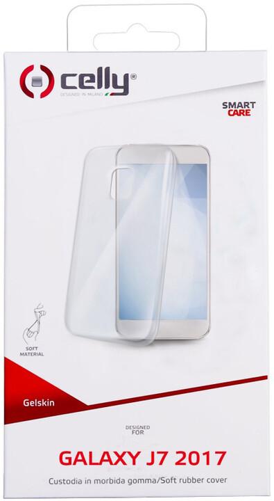 CELLY Gelskin pouzdro pro Samsung Galaxy J7 (2017), bezbarvé