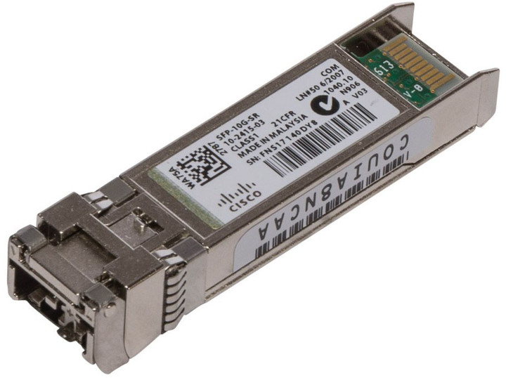 Cisco SFP-10G-LR-S=, modul SFP+, 10 Gbit, SR - LC/PC multi-režimy, až 300m, 850 nm