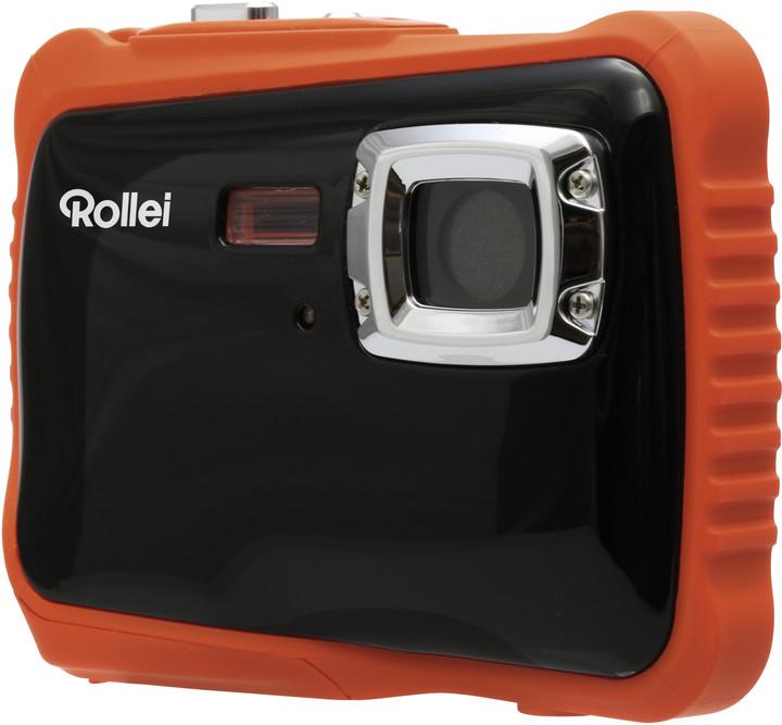 Rollei Sportsline 65, voděodolný, černá/oranžová, brašna