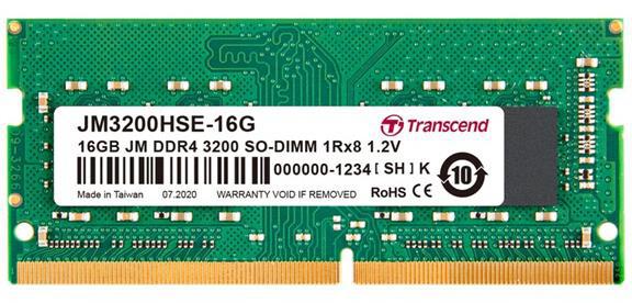 Transcend 16GB DDR4 3200 CL22 SO-DIMM