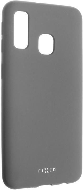 FIXED zadní pogumovaný kryt Story pro Samsung Galaxy A40, šedá