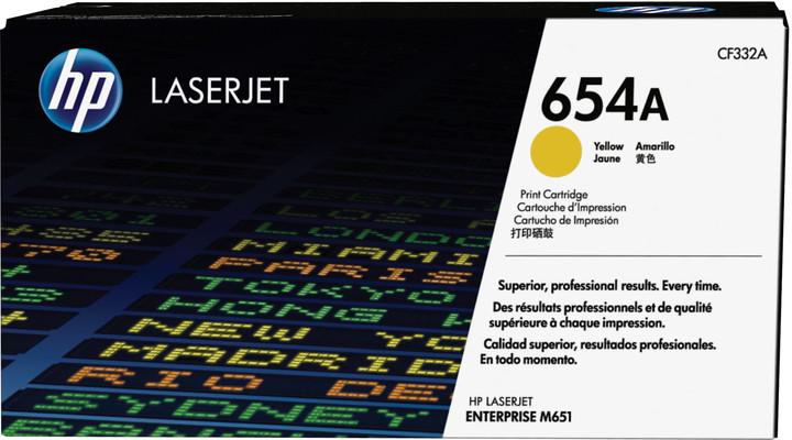 HP 654A, žlutá
