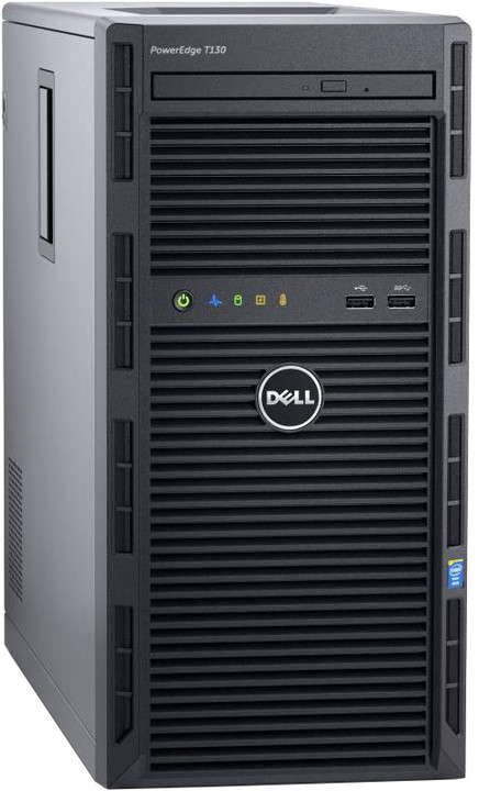 Dell PowerEdge T130 TW /E3-1220v5/8GB/4x1TB SAS/H330/bezOS