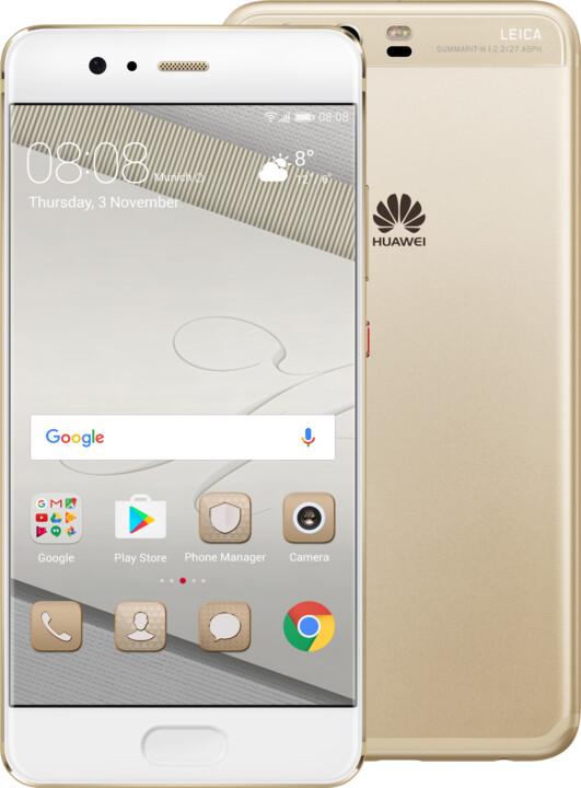 Huawei P10, Dual Sim, zlatá