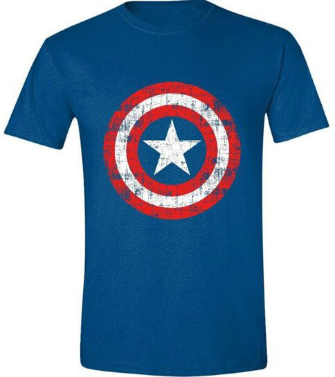 Tričko Marvel Avengers Assemble - Captain America Scratched Shield (XXL)