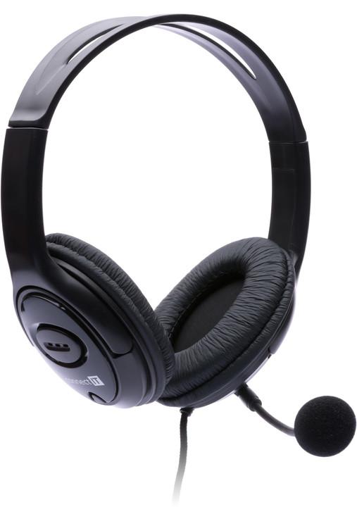 CONNECT IT PC headset s mikrofonem, černá