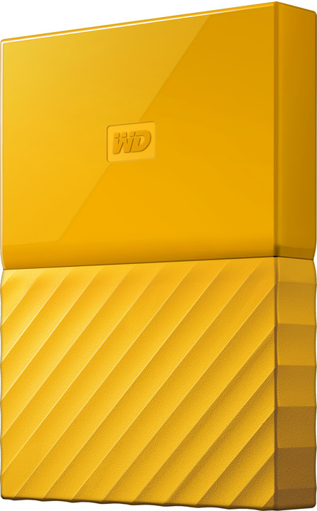 WD My Passport - 2TB, žlutá