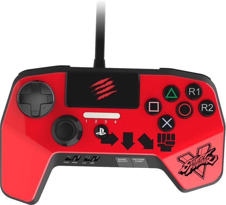 Mad Catz Street Fighter V FightPad PRO V2, červený (PS4,PS3)