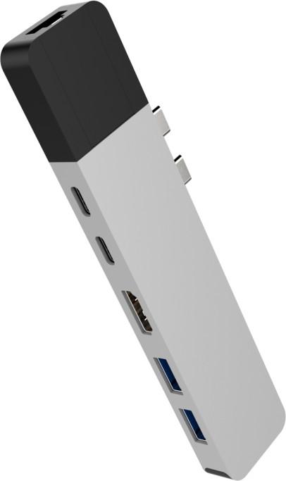 HYPER net Hub pro USB-C pro MacBook Pro, stříbrný