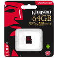 Kingston Micro SDXC Canvas React 64GB 100MB/s UHS-I