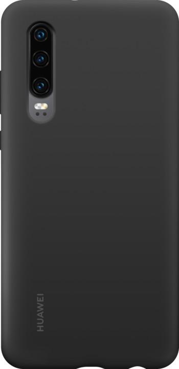 Huawei Original Silikonové Car pouzdro pro P30, černá