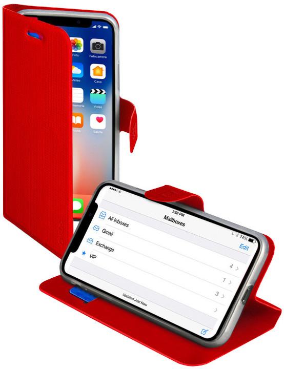 SBS Book Sense pouzdro pro iPhone X, červená