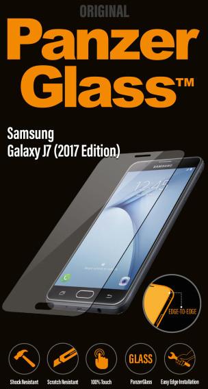 PanzerGlass Edge-to-Edge pro Samsung Galaxy J7 (2017), čiré