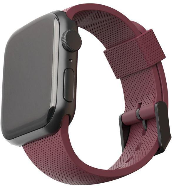U by UAG silikonový řemínek pro Apple Watch, 38/40mm, vínová