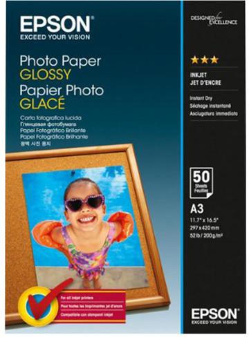 Epson Photo Paper Glossy, A3, 50 listů, 200g/m2, lesklý