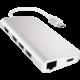 Satechi Type-C Multi-Port Adapter 4K Ethernet, stříbrná