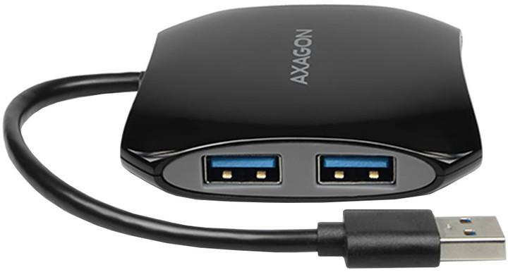 AXAGON 4x USB3.0 QUATTRO hub, 16cm kabel