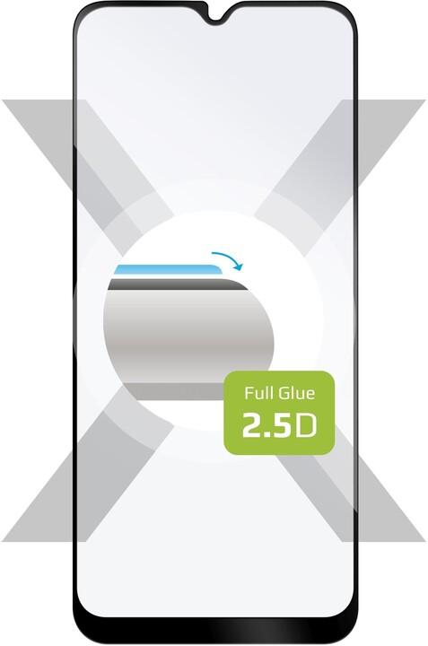 FIXED ochranné tvrzené sklo pro Samsung Galaxy A02s, Full-Cover, černá
