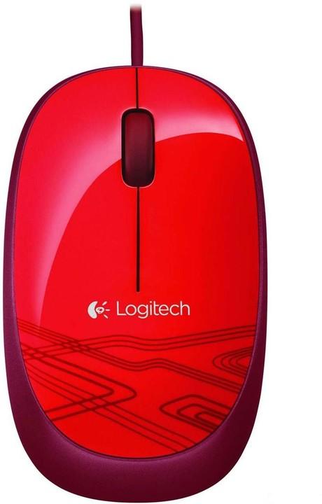 Logitech Mouse M105, červená