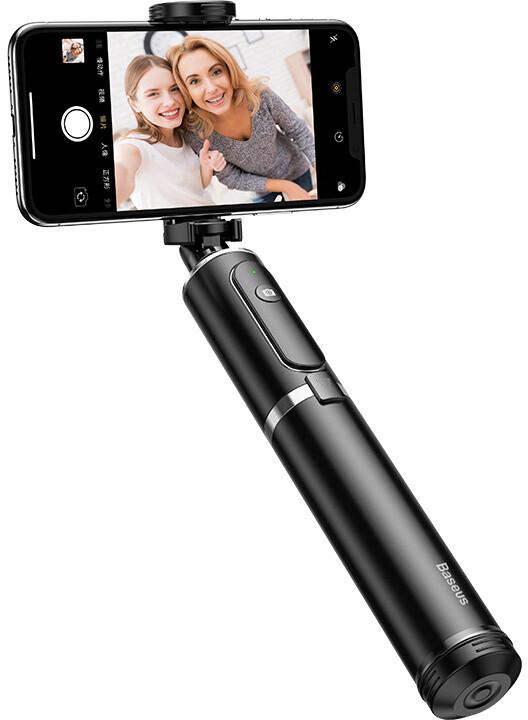Baseus Fully Folding Selfie Stick, černá/stříbrná