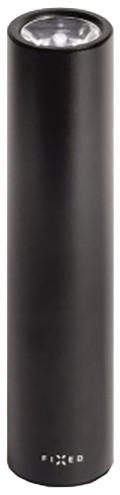 FIXED powerbanka Torch 2600 se svítilnou a držákem na řídítka, 2600 mAh, černá