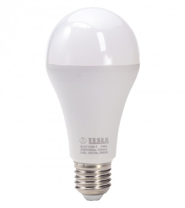 TESLA LED žárovka BULB E27, 14W, 3000K, teplá bílá
