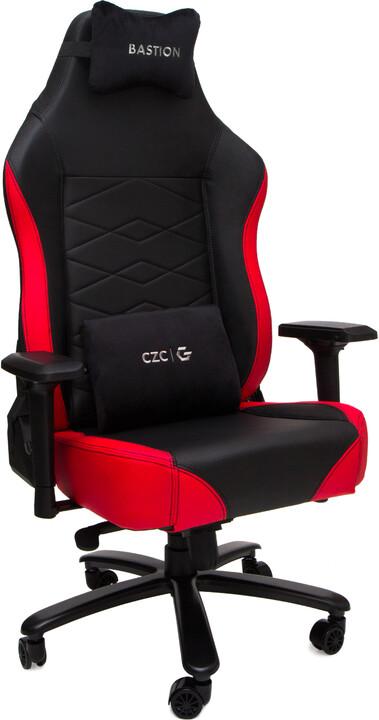 CZC.Gaming Bastion, herní židle, černá/červená