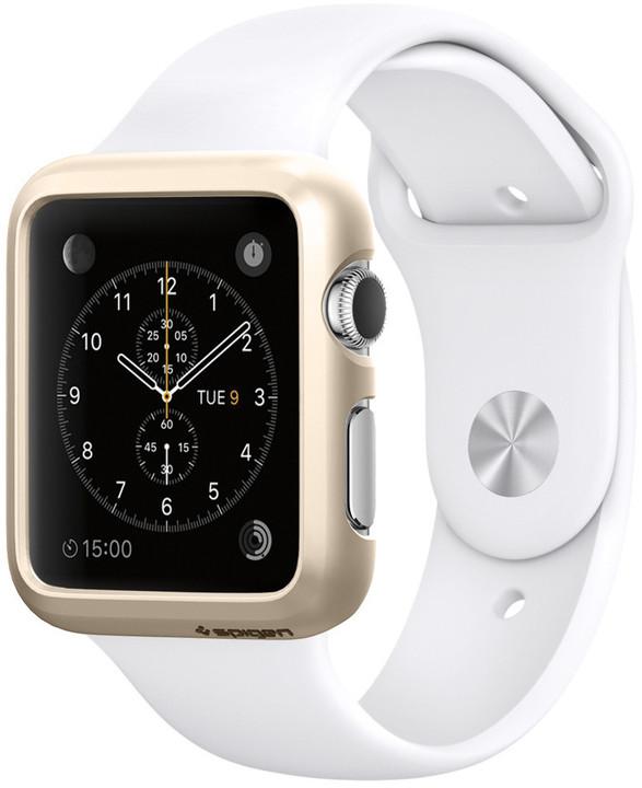 Spigen Thin Fit, cham. gold - Apple Watch 38mm