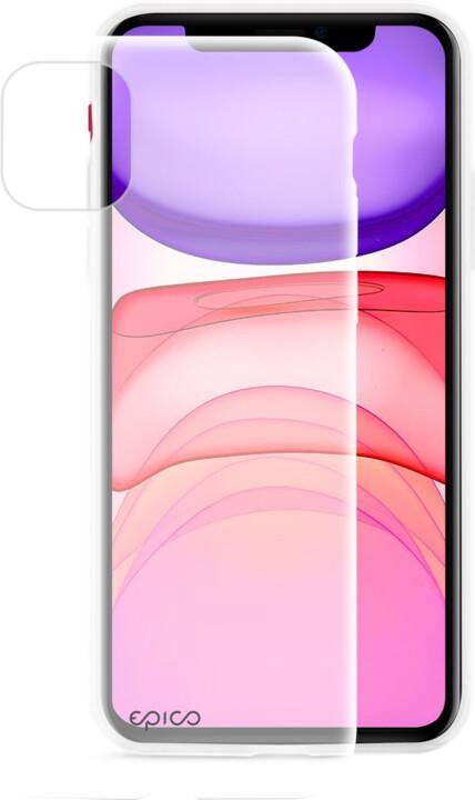 EPICO silikonový kryt 2019 pro iPhone 11, bílá transparentní