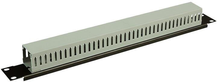 """Solarix vyvazovací panel 19"""", 1U, plastový VP-03"""