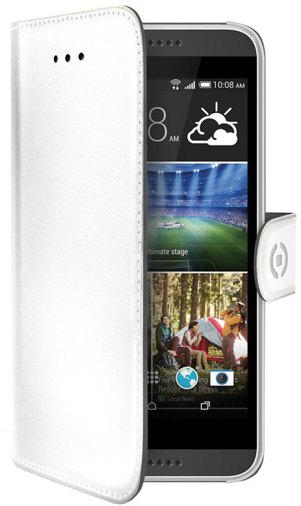 CELLY Wally pouzdro pro HTC Desire 620g, bílá