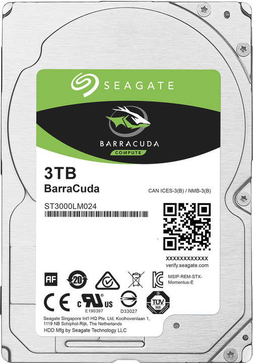 "Seagate BarraCuda, 2,5"" - 3TB"