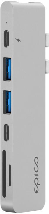 EPICO USB Type-C HUB PRO, stříbrná