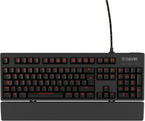 Fnatic Gear Rush G1, Cherry MX Silent Red, US