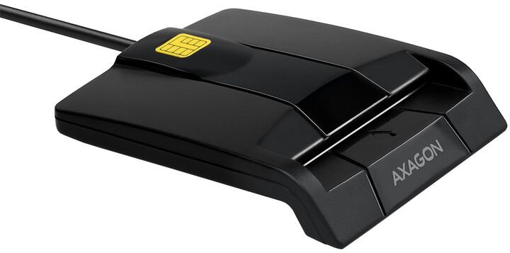 AXAGON CRE-SM3 USB Smart card FlatReader (eObčanka), černá