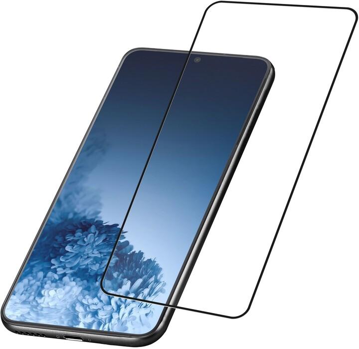 Cellularline ochranné tvrzené sklo Capsule pro Samsung Galaxy S21
