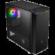 Fortron CST310, 1x ARGB ventilátor, okno, černá