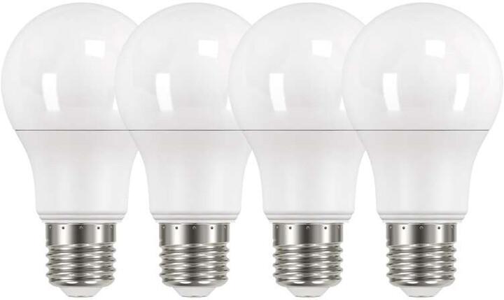 Emos LED žárovka Classic A60 10W E27, neutrální bílá - 4ks