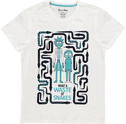 Tričko Rick and Morty - Waste Of Snakes (XL)