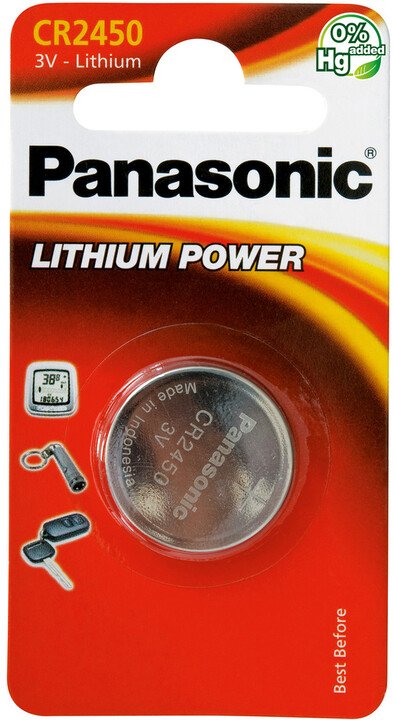 Panasonic baterie CR-2450 1BP Li