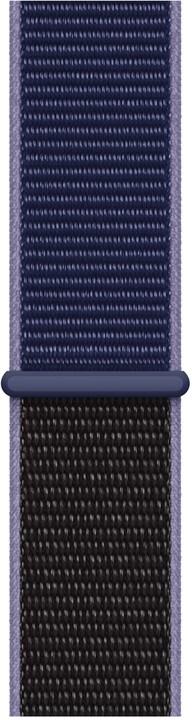 Apple řemínek pro Watch Series 5, 44mm provlékací sportovní, půlnočně modrá