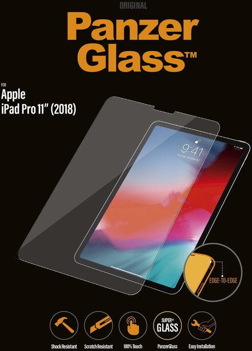 "PanzerGlass Edge-to-Edge pro Apple iPad 11"" (2018) čiré"