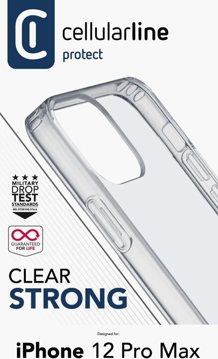 Cellularline zadní kryt Clear Duo pro Apple iPhone 12 Pro Max, s ochranným rámečkem, čirá