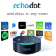 Amazon Echo DOT - reproduktor s umělou inteligencí, černá (EU distribuce) + redukce EU
