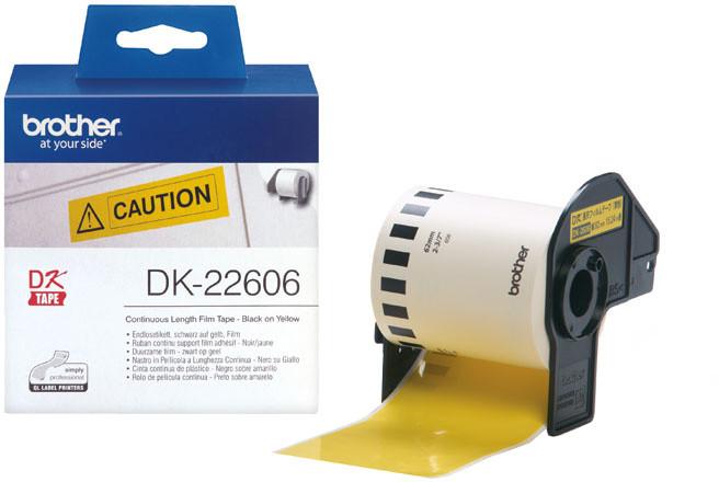 Brother - DK22606 (žlutá filmová role 62mm x 15,24m)
