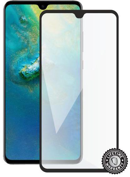 Screenshield ochrana displeje Tempered Glass pro HUAWEI Mate 20 (full cover), černá