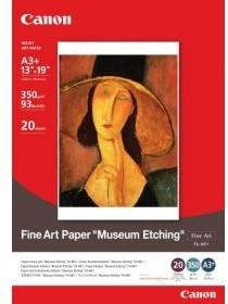 Canon Foto papír Fine Art Museum Etching FA-ME1, A3+, 20 ks, 350g/m2, matný